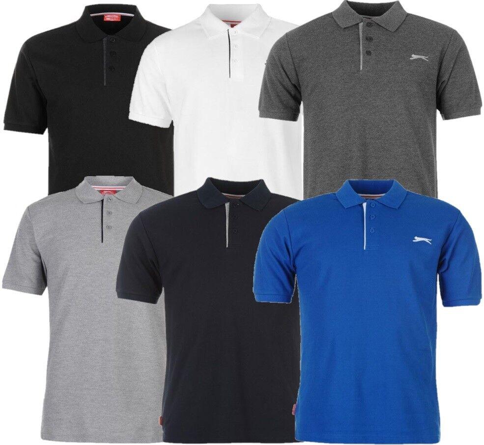 5d5e75099f32a1 SLAZENGER Herren Polo Shirt Freizeit Hemd Sommer Kragen T-Shirt Fitness  Sport
