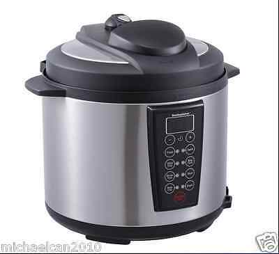 Stainless Steel 1000-Watt 6-Quart Electric Pressure Cooker Brushed ,4-Dight LED