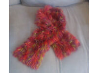 Quirky scarf - hand-knitted, very soft and light (woman/ teenager)