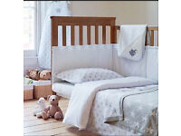 New John Lewis baby change mat + bumper unisex stars & dots double sided cot bumper