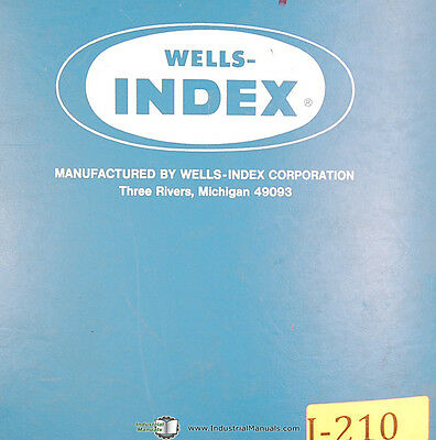 Wellsaw 1270 Metal Cutting Bandsaw 370 Whk Bar Feed Parts Manual 1972