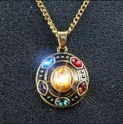 Thanos Ring kette Avengers infinity war Gauntlet Halskette Anhänger