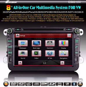 "8"" Car DVD GPS Stereo Amarok VW Golf Seat Passat Polo Tiguan Cadd Sydney City Inner Sydney Preview"