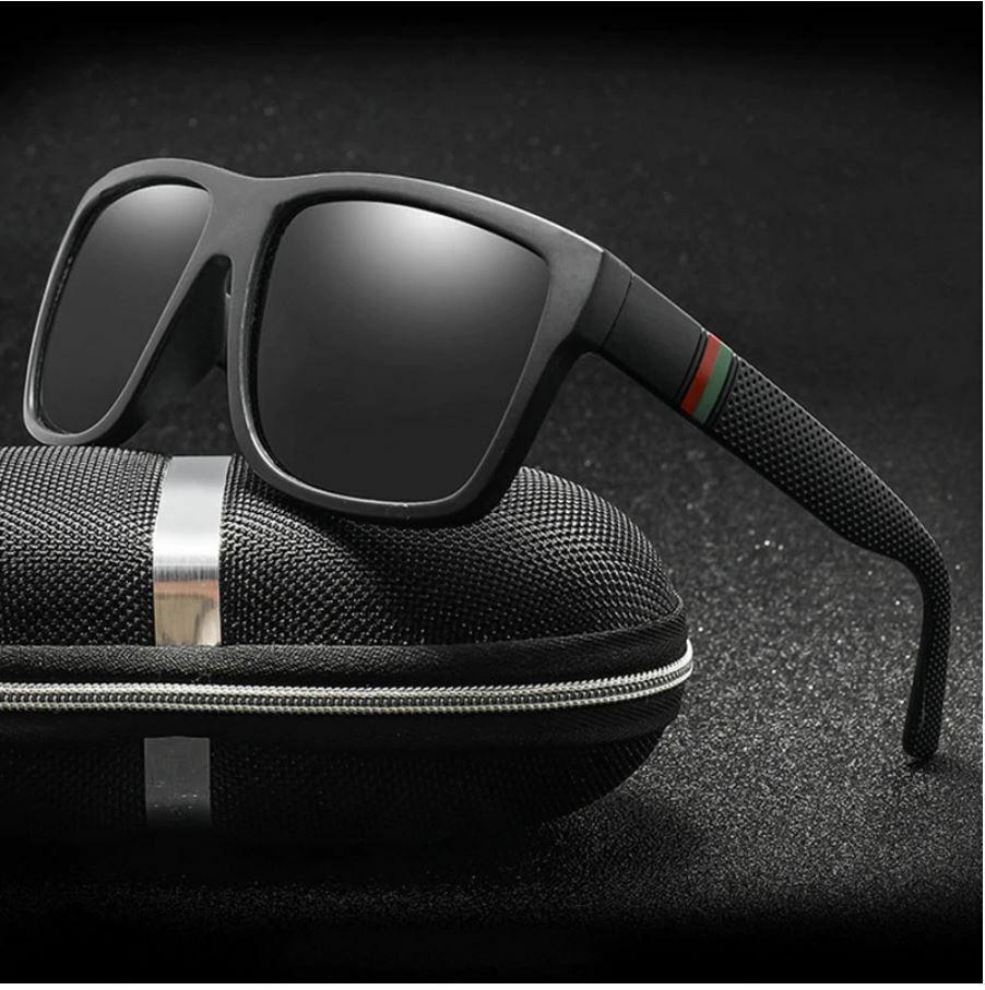 Men Black Lens Glasses Fashion Style Sunglasses Sport Square Frame Outdoor 2021