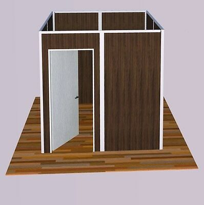 Sunwalls Modular Walls - 4 Walled Square Shaped Room Of Standard Walls 8x8