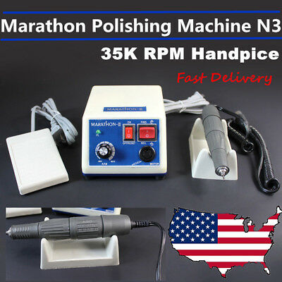 Dental Lab Marathon Handpiece 35krpm Electric Micromotor Polishing Machine N3