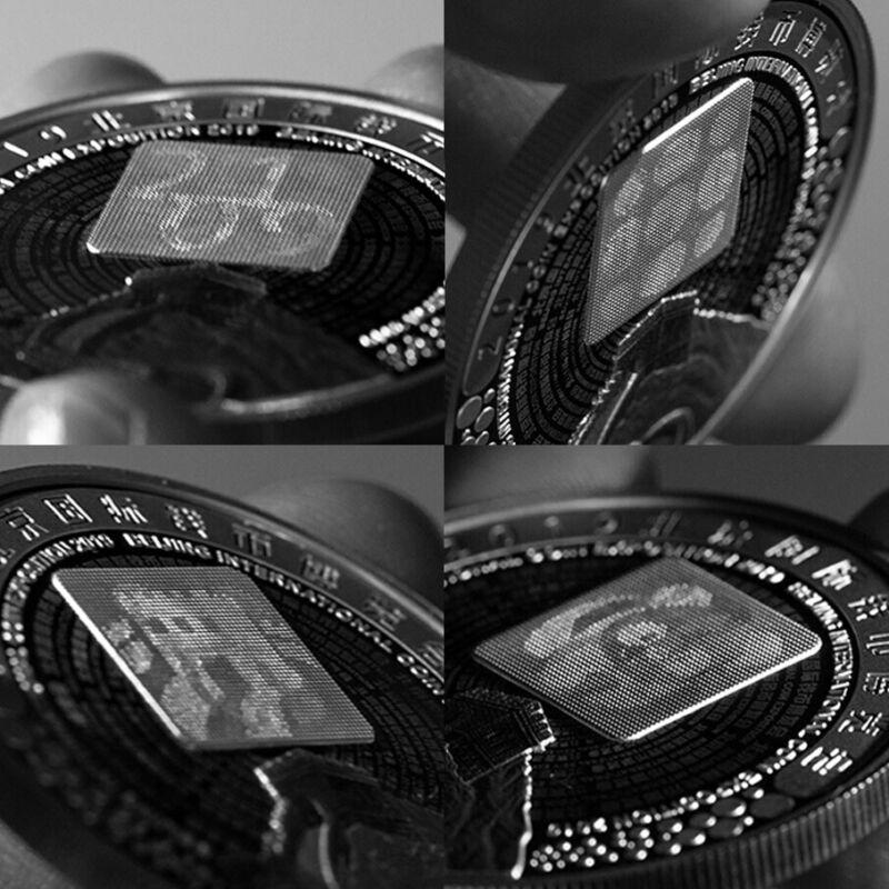 Ink 2019 Beijing Coin Expo SILVER Panda medal 30g International Expo /& Gift