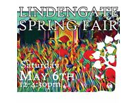 Lindengate Spring Fair 6th May nr Aylesbury - therapeutic gardens, cakes, crafts, BBQ, kid's fun.