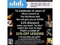 21% Discount on Music Lessons