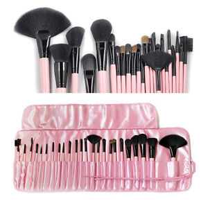 24pcs superior Professional Soft Cosmetic Makeup Brush Set  + Pouch Bag Case USA