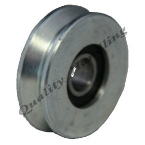 Gate wheel pulley wheel 40mm V groove steel wheel with bearing angle groove