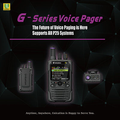 Unication G5 Vhforuhf 7800mhz P25 Phase2 Digital Pager Scanner Tdma Minitor