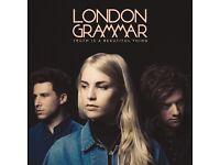 London Grammar Tickets x 2