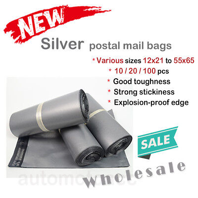 Silver Combo Postal Mail Bag Envelope Seal Strong Plastic Courier Envelope Bag