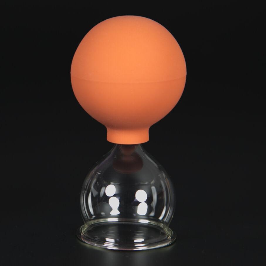 Schröpfglas Schröpfgläser mit Saugball med. Schröpfen Original Lauschaer Glas 40 mm