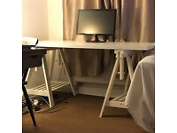 Desk and adjustable trestle legs - Brand new