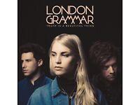 2x tickets standing London Grammar, 02 leeds 18 October 2017 sold out. £100