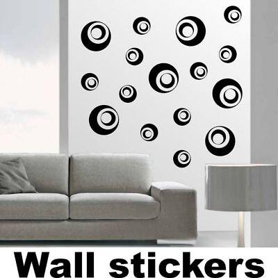 wall stickers cerchi bolle adesivi murali camera specchio allestimento a0151