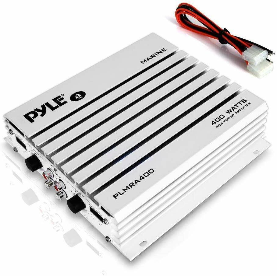 4-Channel 400-Watt Waterproof Marine Amplifier