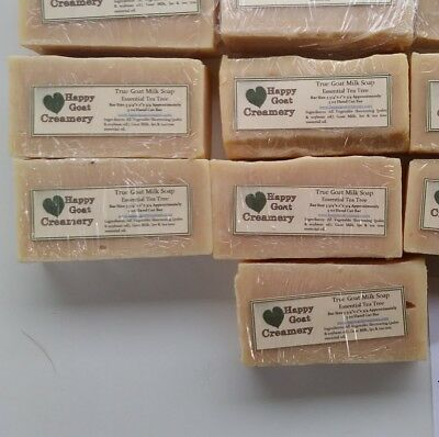 5 BARS TEA TREE OIL GOAT MILK SOAP DIRECT HAPPY GOAT CREAMERY BEST ESSENTIAL