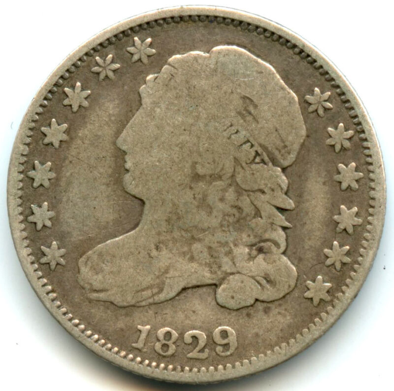 1829 Capped Bust Silver Dime