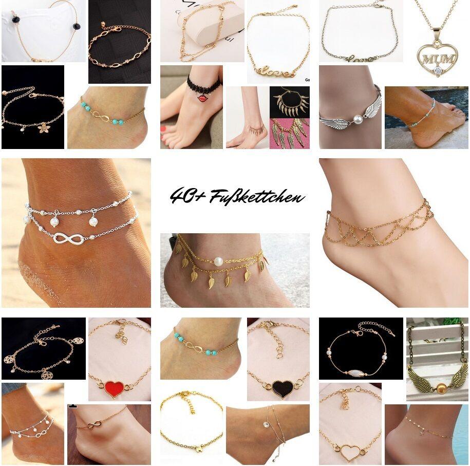 Fußkette Fußkettchen Fusskette | 130+ VARIANTEN | Armband Kette Schmuck Mode NEU