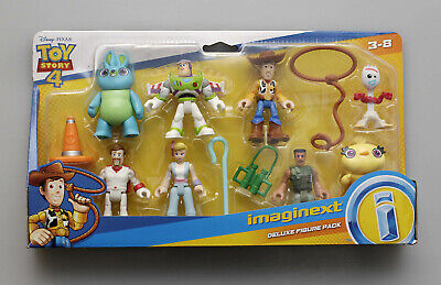 Disney Pixar Toy Story 4 Imaginext Deluxe Figure Pack - Woody Buzz Forky - NIP