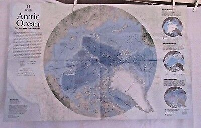 2009 National Geographic Map- Arctic Ocean - Unexpected Frontier- 31 x 20 inches