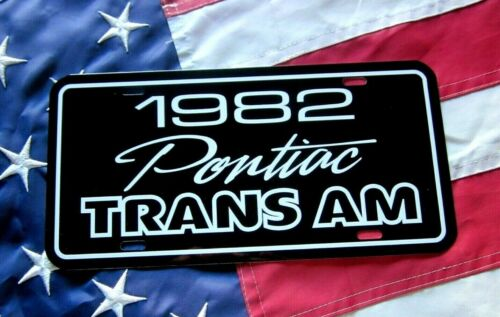 1982  Pontiac Trans Am  License plate tag 82 Firebird T/A