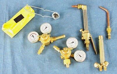 Smith Welding Kit - 2 Regulators Cutting Tip Torch Handle