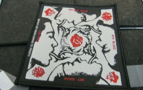RED HOT CHILI PEPPERS  PATCH NEW  RARE COLLECTABLE WOVEN ENGLISH IMPORT