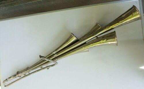 Vintage GERMAN DDR GDR Fanfare 5 Bells Signal Horn