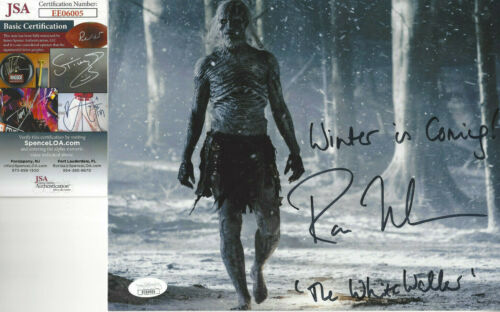 Game of Thrones White Walker Autographed 8x10 Winter is Coming JSA Certified