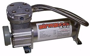 Air Compressor For Bag Suspension System Airmax 400 Pewter 200psi Max