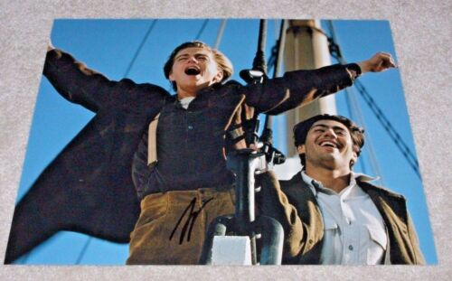 LEONARDO DICAPRIO SIGNED 'TITANIC' 11X14 PHOTO COA PROOF LEO OSCAR JACK DAWSON