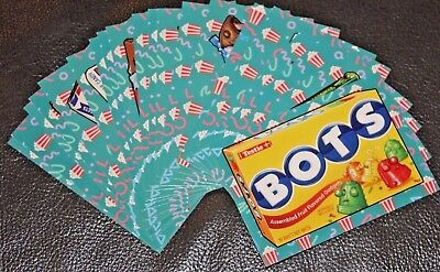 2018 WACKY PACKAGES GO TO THE MOVIES CONCESSION STAND STICKERS BONUS SET 20/20