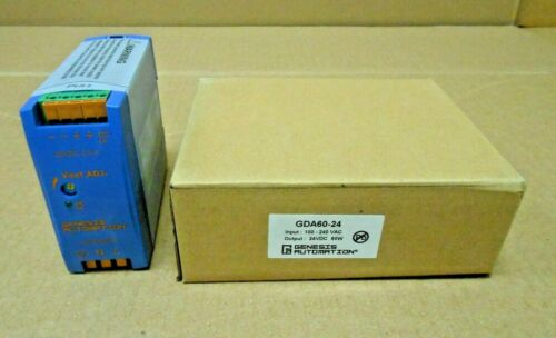 1 NIB GENESIS GDA60-24 POWER SUPPLY INPUT 100-240VAC OUTPUT 24VDC 60W (11 AVAIL)