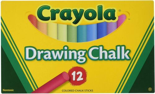 Crayola Colored Drawing Chalk, Non-Toxic Chalkboard Assorted Color Chalk, 510403