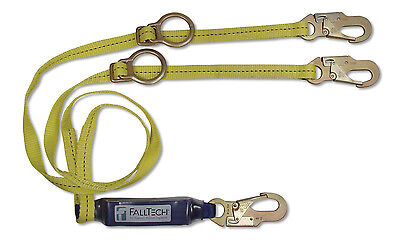Falltech 726082d Clearpack 6 Twin Shock Absorbing Lanyard Y Leg Sliding D Ring