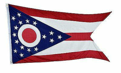 3X5 State of Ohio Ohio State Flag 3'x5' Banner Polyester FAST USA SHIPPER