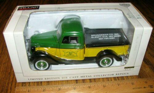 John Deere Dealer Bruggeman Company 1937 Ford Pickup Truck Bank Spec Cast 16091