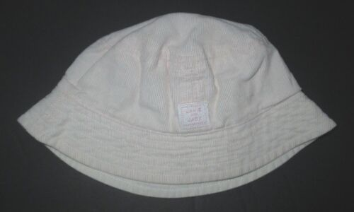 GIRLS JANIE AND JACK SIGNATURE LAYETTE PINK CORDUROY BUCKET HAT SIZE 0-3 MON #A