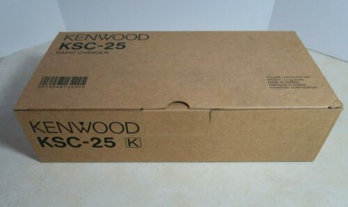 Kenwood KSC-25 Rapid Charger with W08-0942 Adapter - New Genuine OEM