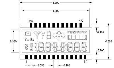Lcd 4-mux 7.1 Digits X 7 Segments Progress Bar Arrows