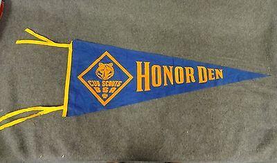 Cub Scouts BSA Honor Den Felt Pennantfor Collector of ScoutMemorobilia Vintage