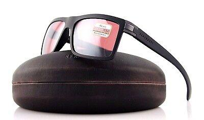 4cda2552fa POLARIZED NEW Authentic SERENGETI BRERA Sanded Black Sedona Sunglasses 8213