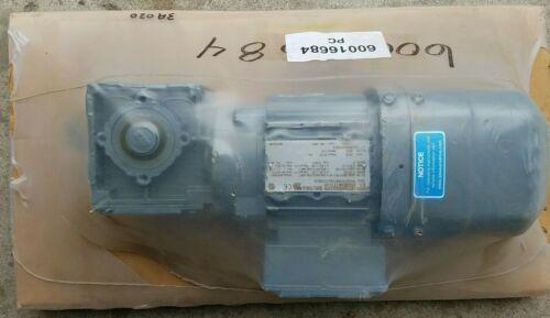 SEW Eurodrive 3 ph .37 kw .5 hp WA20/TDRS71S4/TF/ES7S gear motor 166 rpm