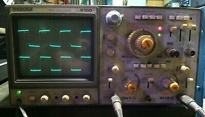 Kikusui Cos5100tm 100mhz Oscilloscope 3 Channels 8 Traces