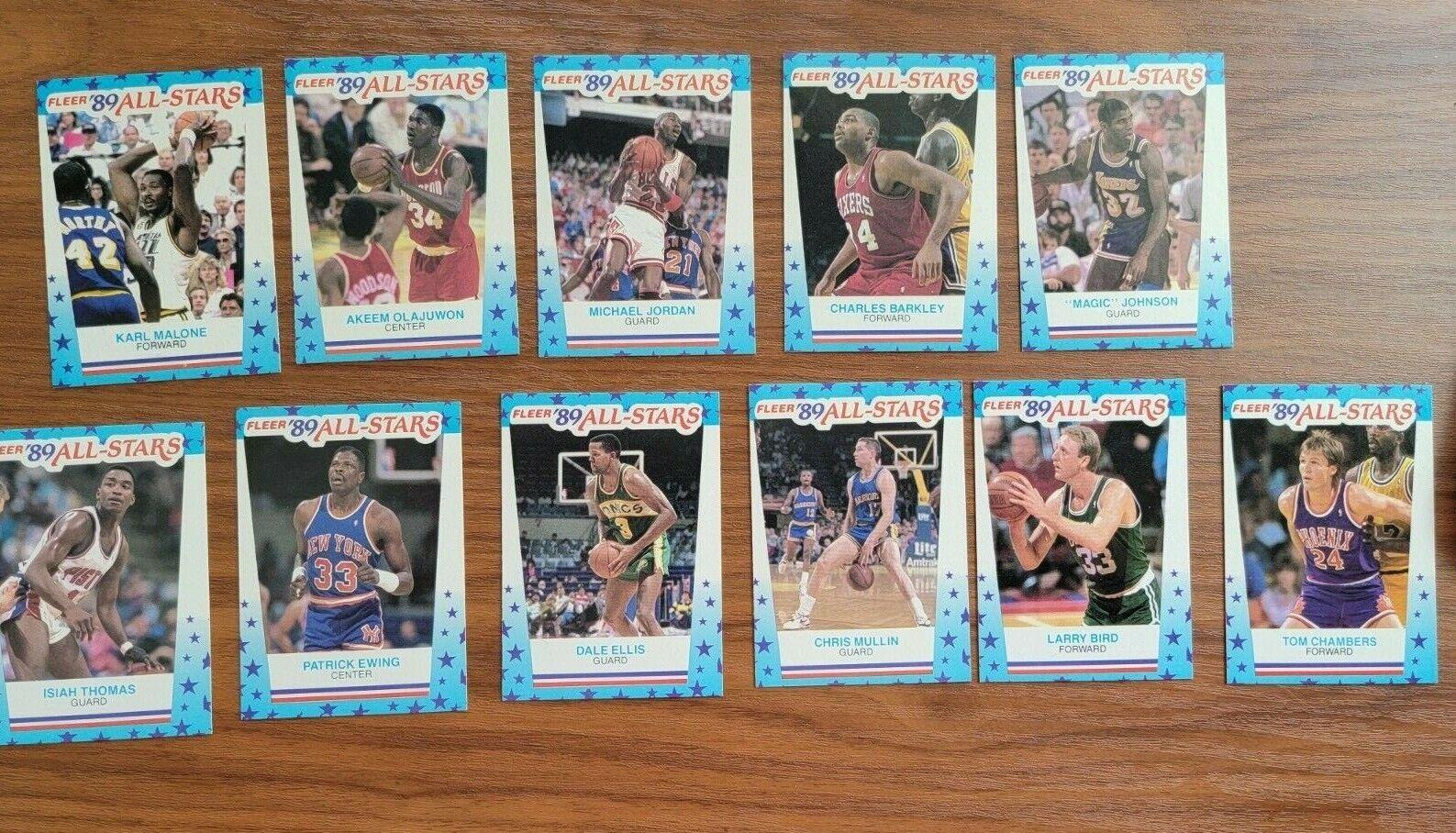 1989-90 Fleer Basketball Complete Sticker Set 1-11 Jordan, Magic, Bird NICE  - $13.01