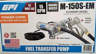 Gpi 12v Fuel Transfer Pump 15 Gpm M-150s-em